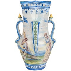 19th Century Spanish Faience Vase