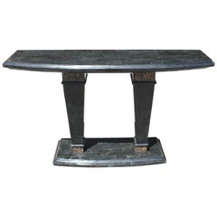 Mid-Century Modern Maitland-Smith Tessellated Stone Console Table, 1970s