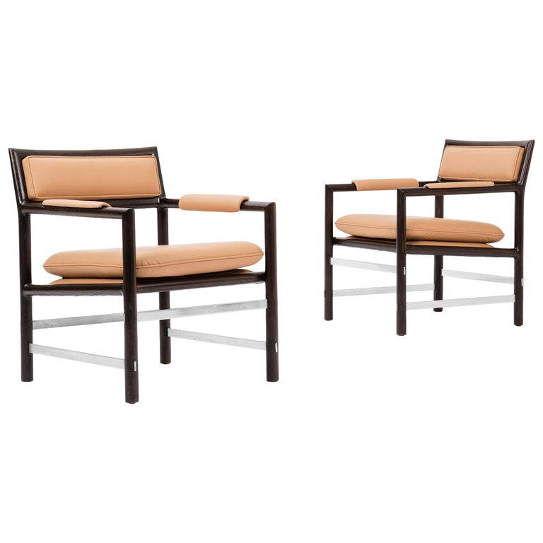 Pair of Eight Edward Wormley Armchairs For Sale