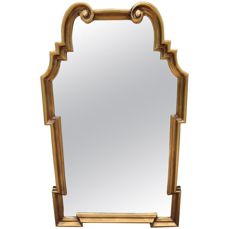 Italian La Barge Hollywood Regency Gilt Mirror For Sale