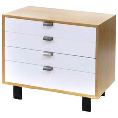 George Nelson for Herman Miller Model 4606 Dresser Chest of Drawers White Front