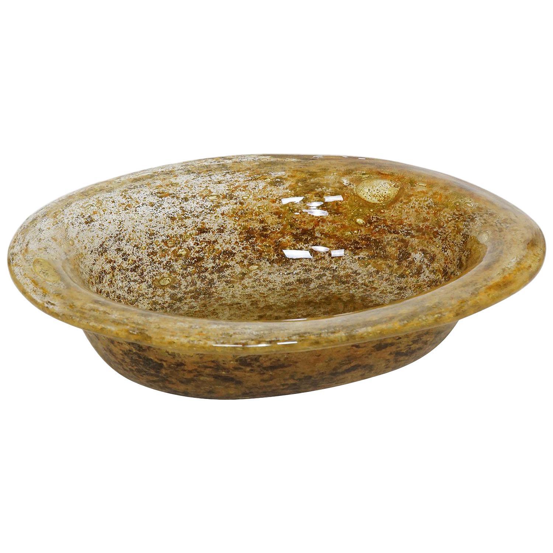Ercole Barovier for Barovier & Toso Aborigeni Murano Art Glass Bowl