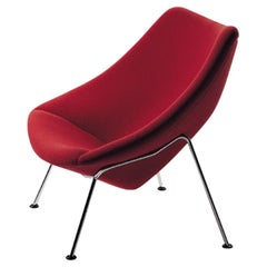 Artifort Oyster Armchair in Red by Pierre Paulin