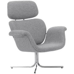 Artifort Tulip Armchair in Grey with Cross Base by Pierre Paulin