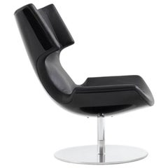 Artifort Boson Chair in Black Leather by Patrick Norguet