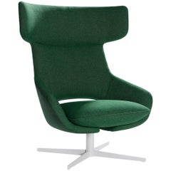 Artifort Kalm Armchair in Green with Swivel Base by Patrick Norguet