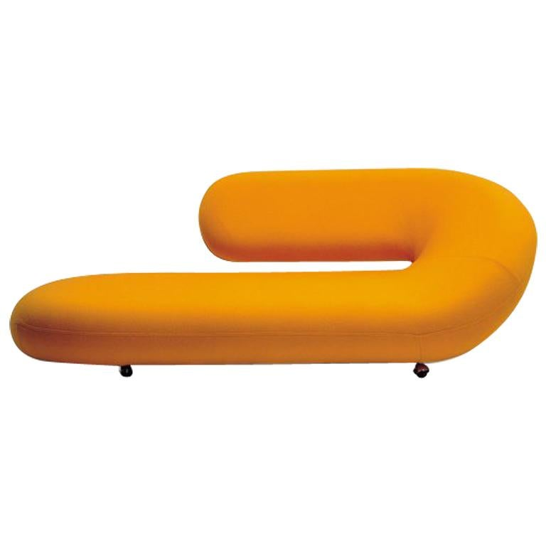 Artifort Cleopatra Chaise Lounge in Orange by Geoffrey D. Harcourt RDI For Sale