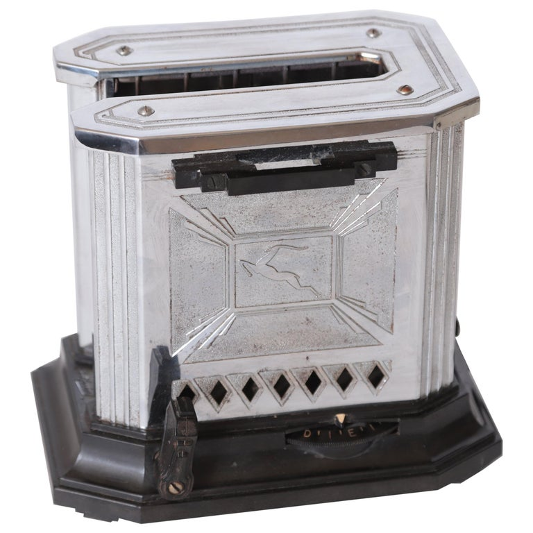 Art Deco Machine Age Raymond Patten Iconic Patented Skyscraper Hotpoint Toaster For Sale