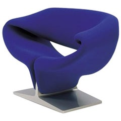 Artifort Ribbon Chair in Blue by Pierre Paulin
