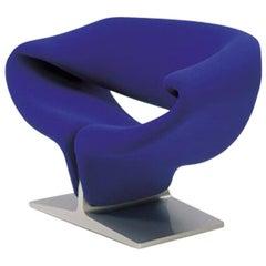Artifort Ribbon Chair in Blue by Pierre Paulin