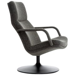 Artifort F156 Chair in Grey with Disc Base by Geoffrey D. Harcourt RDI