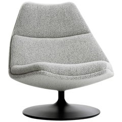 Artifort F511 Low Chair in Grey with Disc Base by Geoffrey D. Harcourt RDI