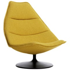 Artifort F585 High Chair in Mustard with Disc Base by Geoffrey D. Harcourt RDI
