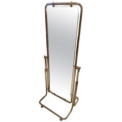 French Chrome Full Length Vintage Dressing Mirror