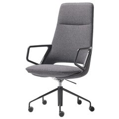 Artifort Zuma High Back Chair in Grey by Patrick Norguet