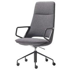 Artifort Zuma High Back Chair in Grey by Patrick Norguet