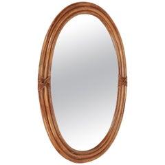 Bamboo Mirror, Italy, 1950s