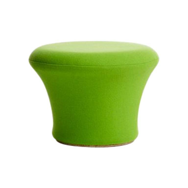 Artifort Mushroom P Stool in Green by Pierre Paulin