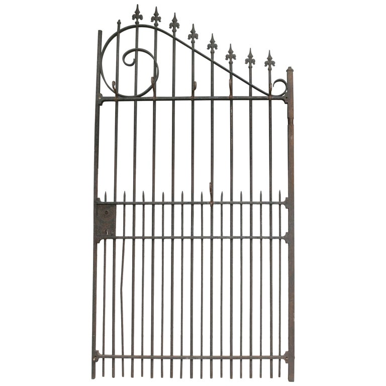 Wardrobe Coat Rack Made of Antique Wrought-Iron Gate For Sale