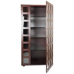 Rosewood & Glass Vitrine Cabinet or Bookcase LB65 by Marco Zanuso for Poggi, 68