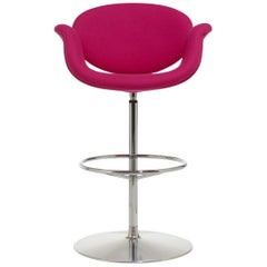 Artifort Little Tulip Barstool in Fuschia by Pierre Paulin
