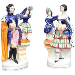 Rare pair of 19th Century Staffordshire figures