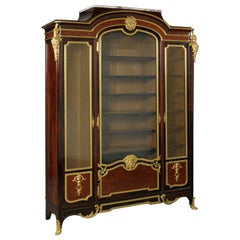 Louis XV Style Gilt-Bronze Mounted Parquetry Inlaid Bibliothèque, circa 1880