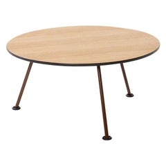 Artifort Orange Slice High Coffee Table in Oak by Pierre Paulin