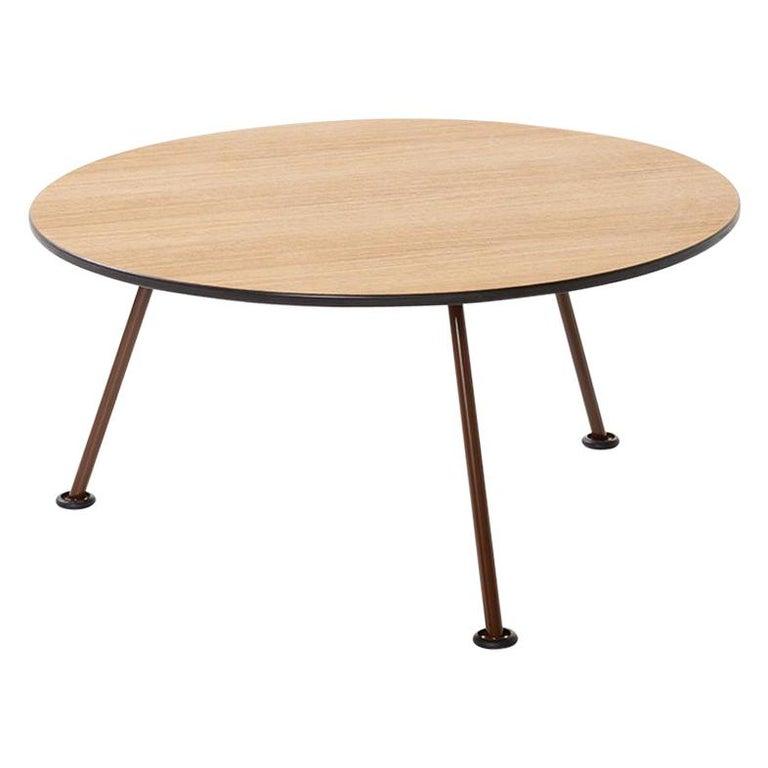 Artifort Orange Slice High Coffee Table in Oak by Pierre Paulin For Sale