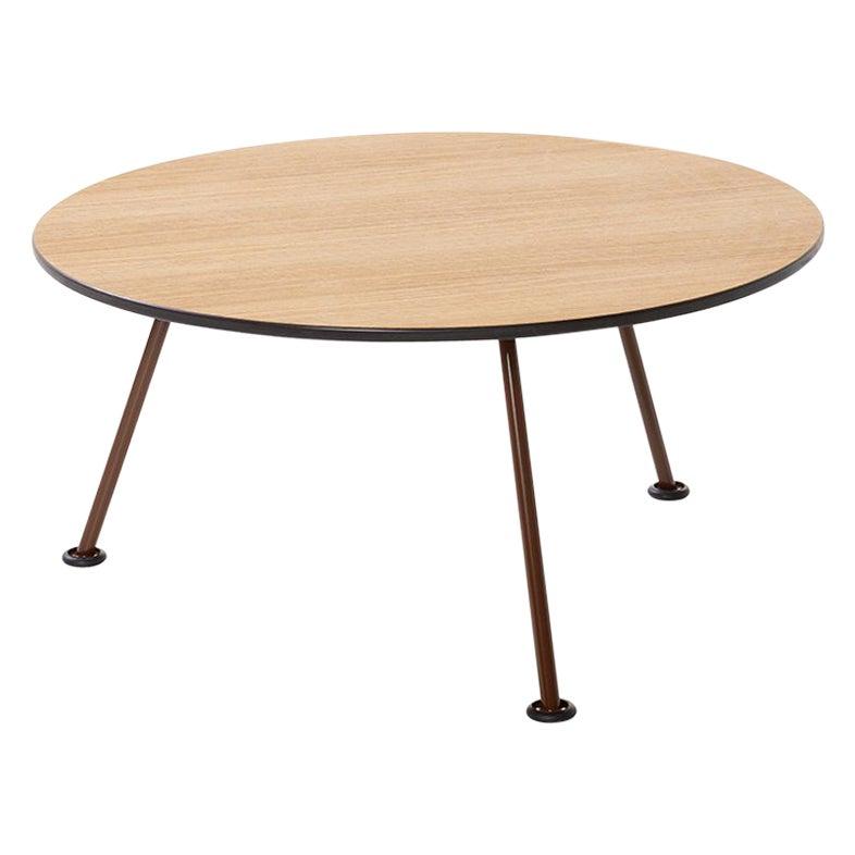 Artifort Orange Slice High Coffee Table in Oak by Pierre Paulin