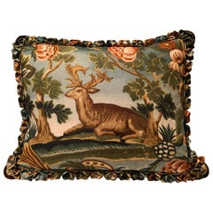 Black Forest Handmade Cushion Hunting Scene Sofina Boutique Kitzbühel
