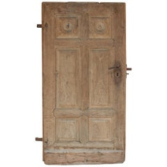 Antique German Door Made of Oak and Fir Wood