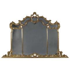 Decorative Carved Giltwood Overmantel Mirror, circa 1890