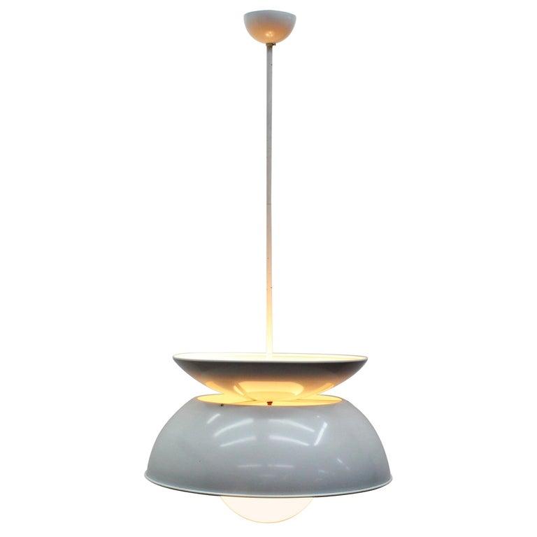 Vico Magistretti Artemide 1960 Modern Design Metal Cetra Hanging Lamp For Sale