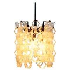 Tony Zuccheri Murano 1960 Modern Design Glass Geometric Hanging Lamp