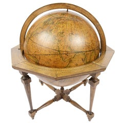 Terrestrial Globe Made According to the Knowledge of Giovanni Maria Cassini 1843