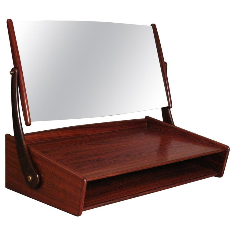 Svend Madsen Rosewood Wall Mounted Vanity Unit For Sale