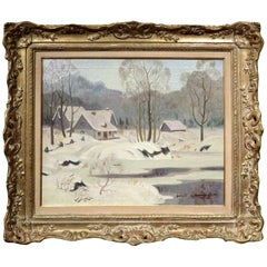 Winter Landscape by Thomas Harold Beament (1898-1984) Canadian RCA, PRCA