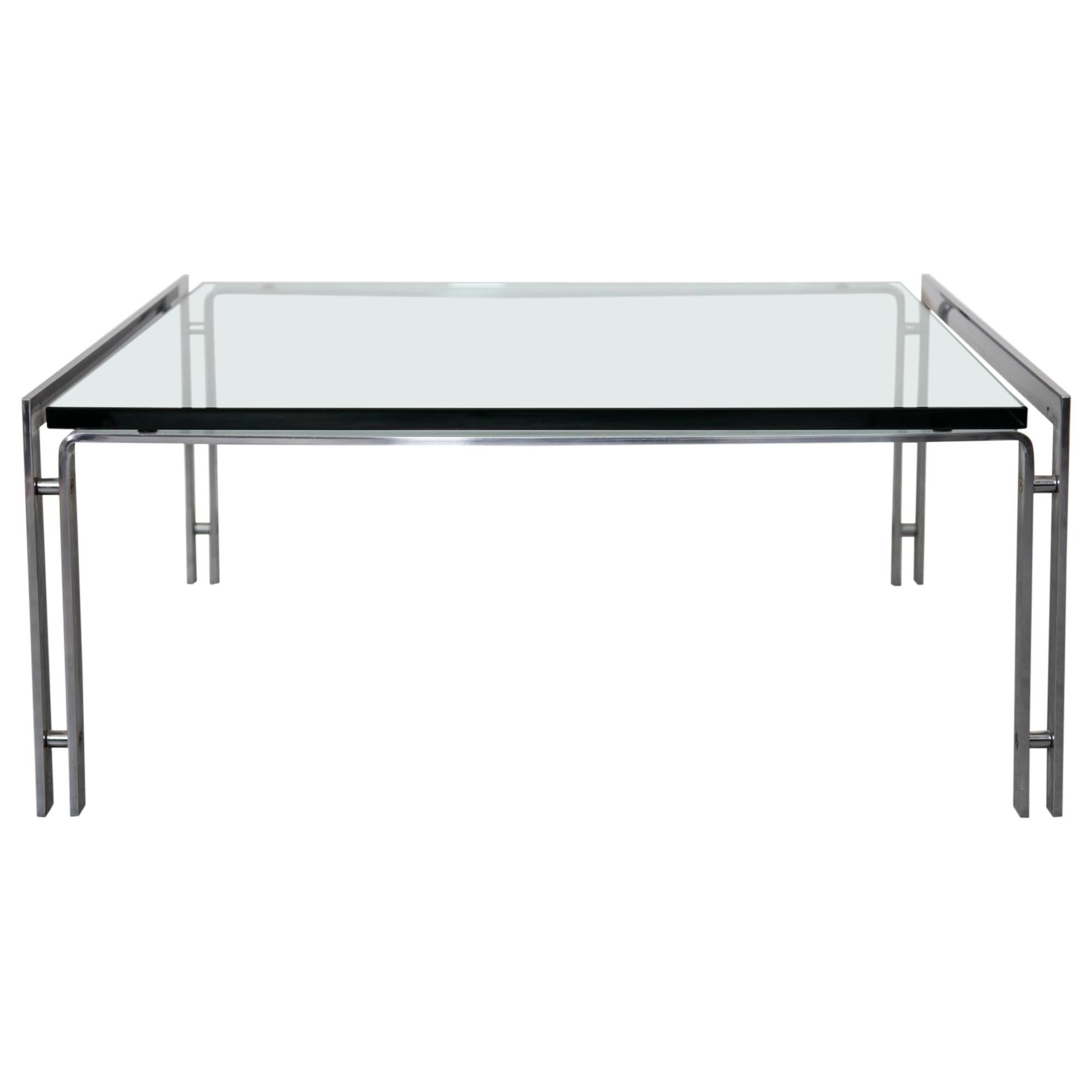 Glass Top and Chrome Coffee Table