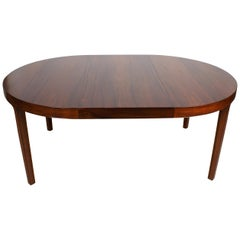 Ole Wanscher Dining Table in Rosewood by Cabinetmaker A.J. Iversen, 1942
