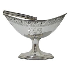George III Britannia Silver Sugar Basket Dublin 1794 Robert Breading