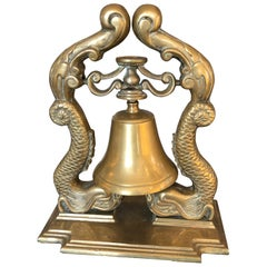 Big Brass Nautical Bell on Stand