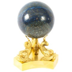 Antique Polished Lapis Lazuli and Ormolu Sphere, 19th Century