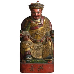19th Century Carved Gilded Deity