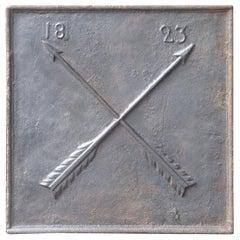 19th Century French Neoclassical 'Saint Andrew's Cross' Fireback
