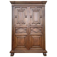 20th Century Cupboard or Cabinet, Oak, Castillian Influence, Spain