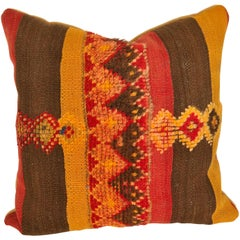 Custom Pillow by Maison Suzanne Cut from a Vintage Moroccan Wool Rug