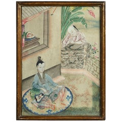 18th Century Chinese Export Watercolour