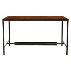 Leather and Metal Writing Desk