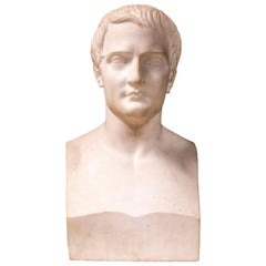 Marble Bust of Napoleon as Caesar after Antoine-Denis Chaudet